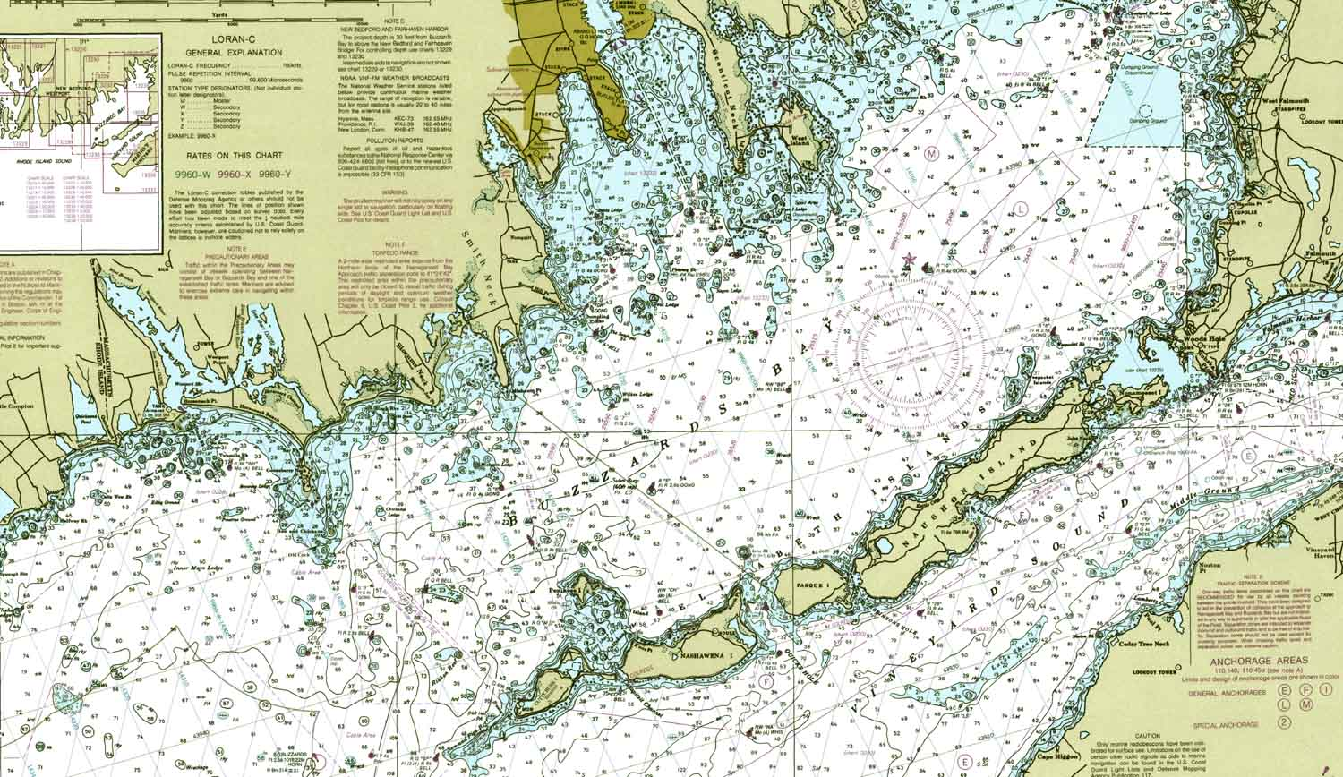 Nautical Charts for Buzzards BayOld Nautical Chart