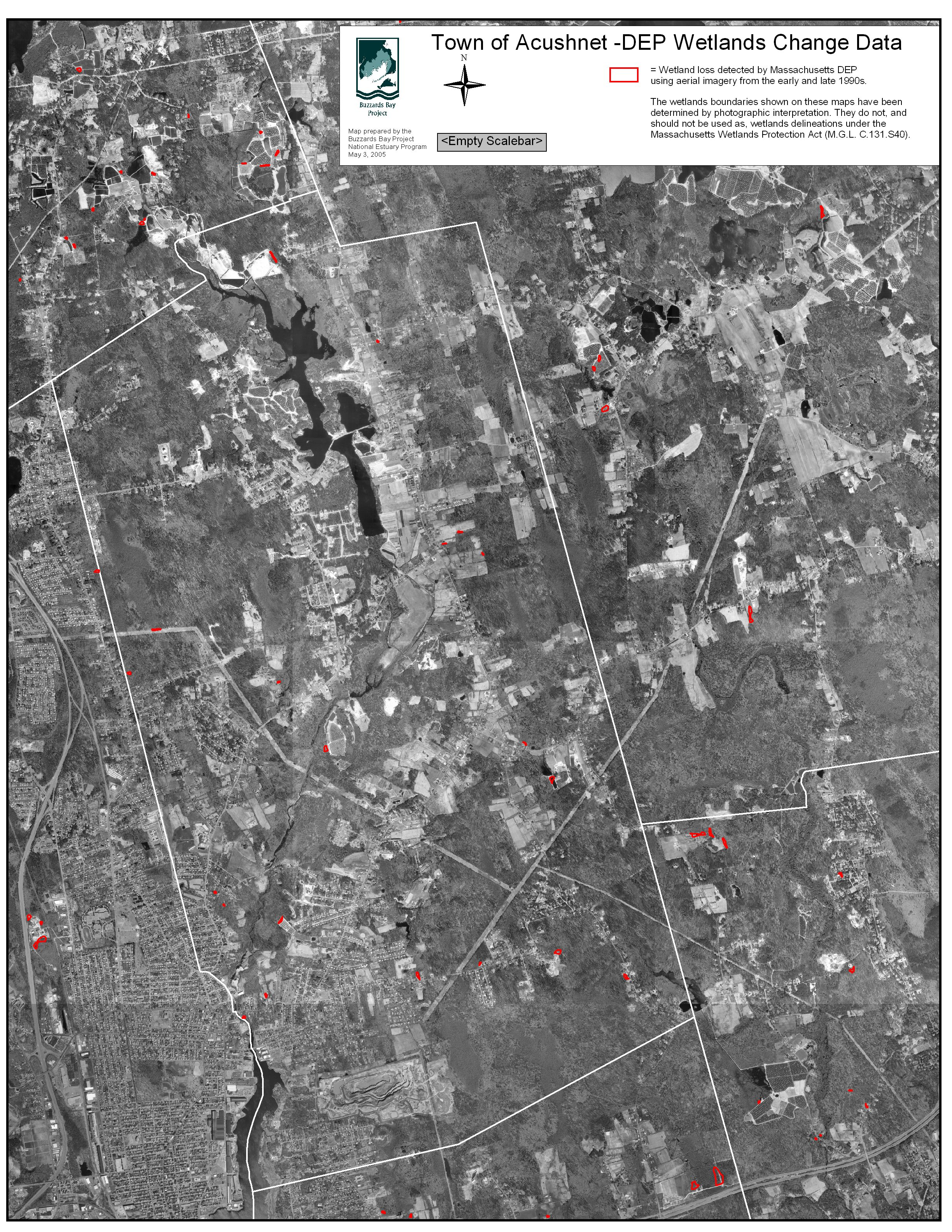 Town Of Acushnet Wetland Loss Map
