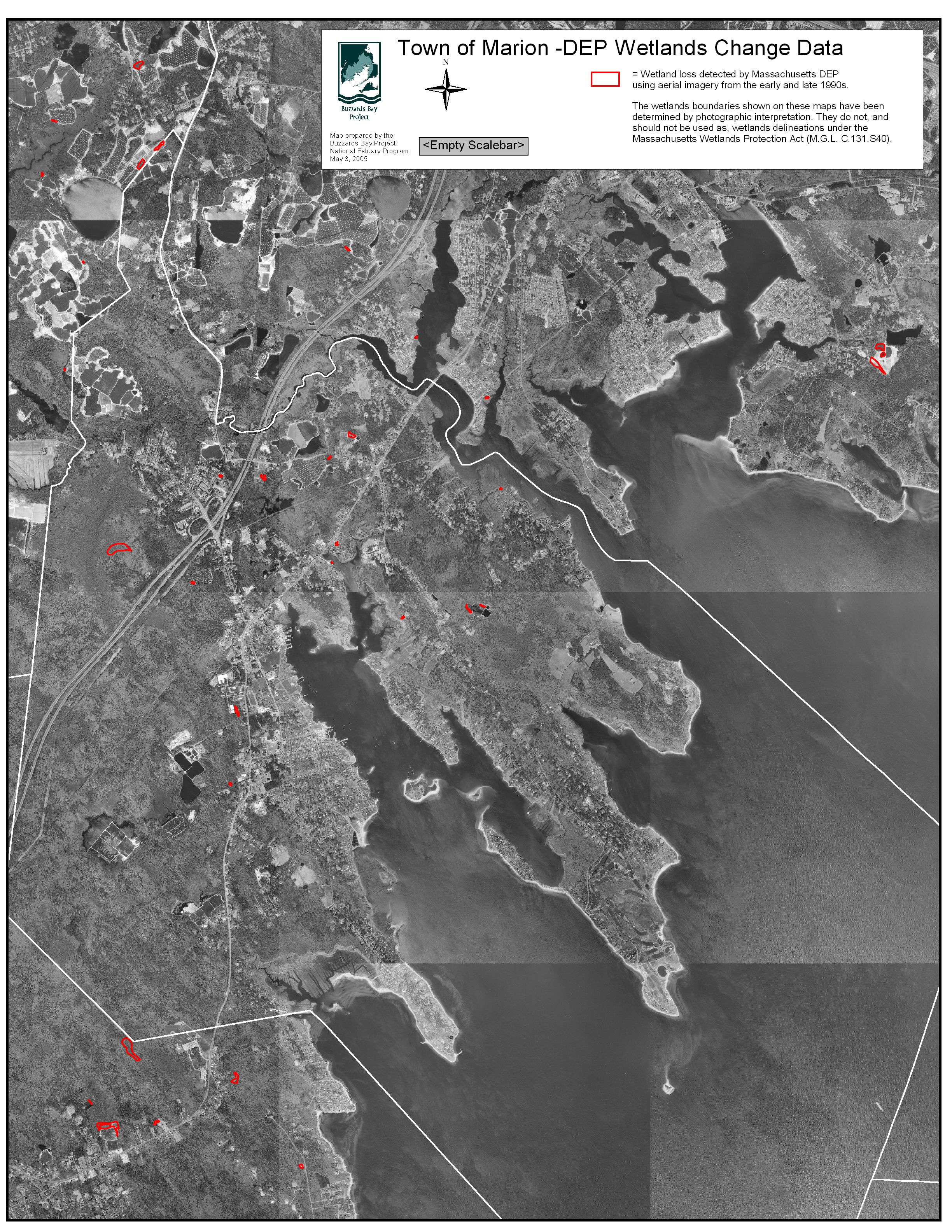 Town Of Marion Wetland Loss Map