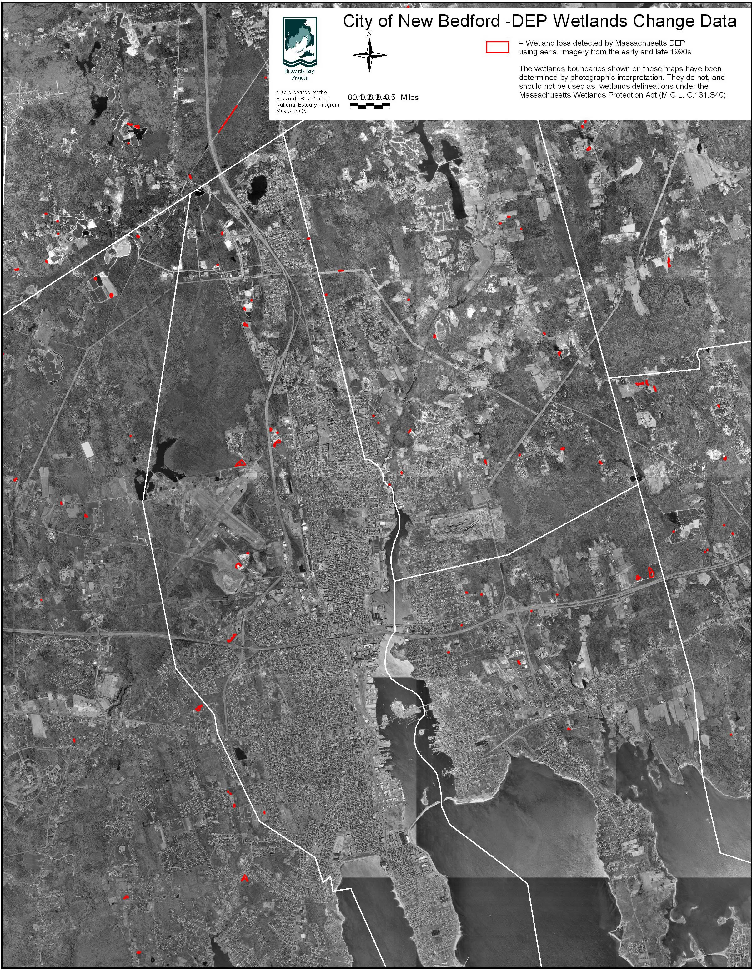 City Of New Bedford Wetland Loss Map