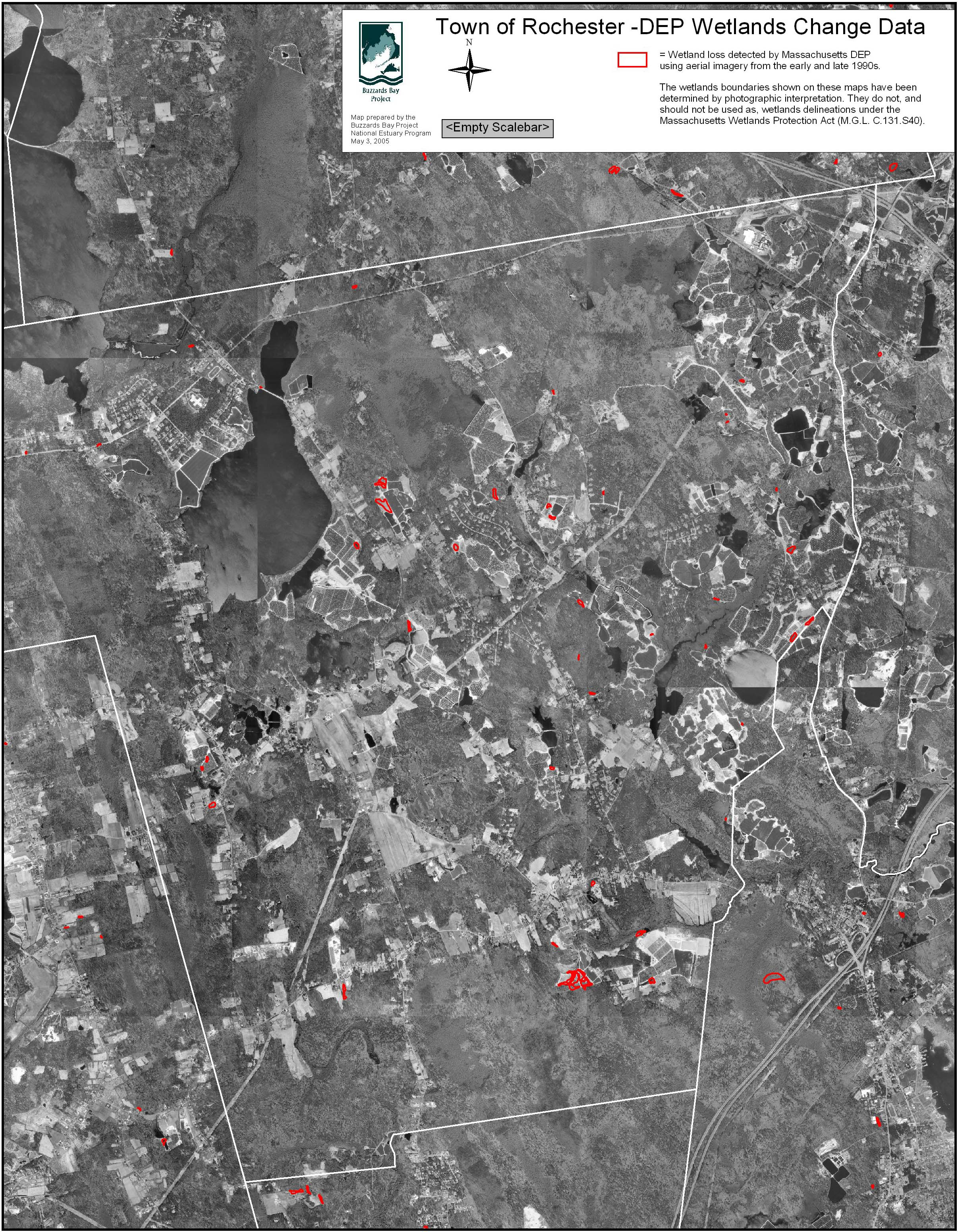 Town Of Rochester Wetland Loss Map