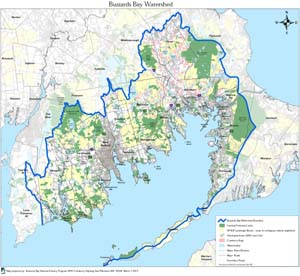 Buzzards Bay Study Area and Land Use