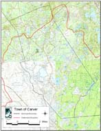 Topographic Map of the Town of Carver