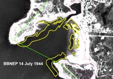 Eelgrass in Wild Harbor, July 14, 1944, as estimated by the BBNEP
