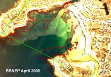Eelgrass in Wild Harbor, BBNEP analysis of 2005 aerial photograph