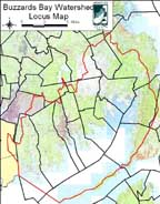 Locus Map of Town of Fall River