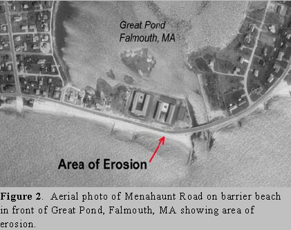 Aerial map of Great Pond, Falmouth, MA
