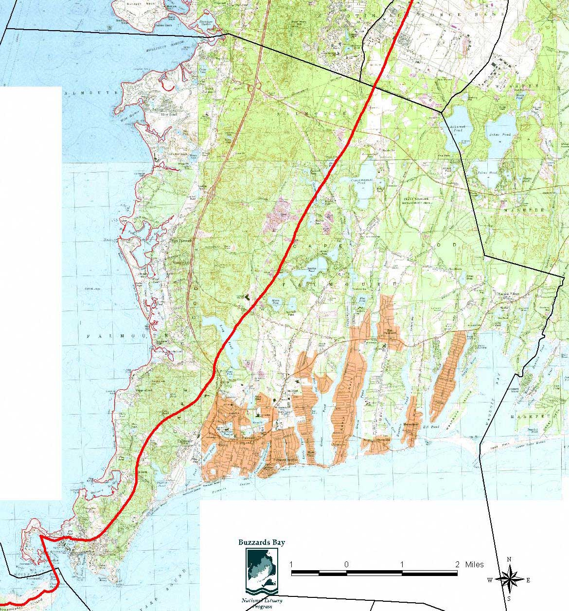 Falmouth buzzards bay national estuary program falmouth core wetlands open 150 kb size map open 750 kb size map geenschuldenfo Gallery