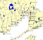 Map of boat ramps in Buzzards Bay.