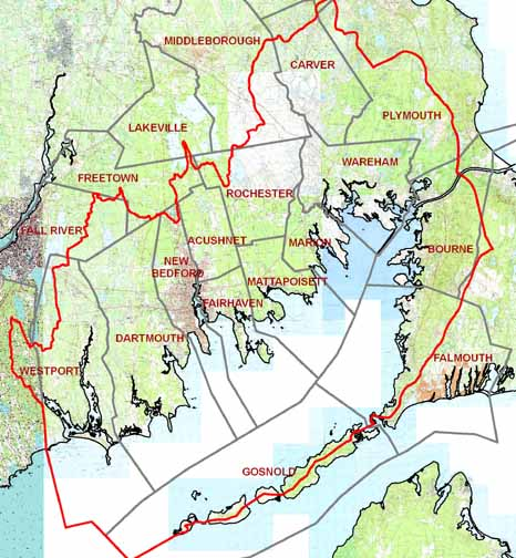 Buzzards Bay Towns Linkage Map