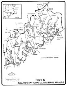 1980's Buzzards Bay watershed boundary developed in 1985