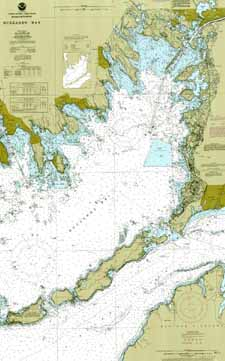 Nautical Map of North and Central Buzzards Bay.