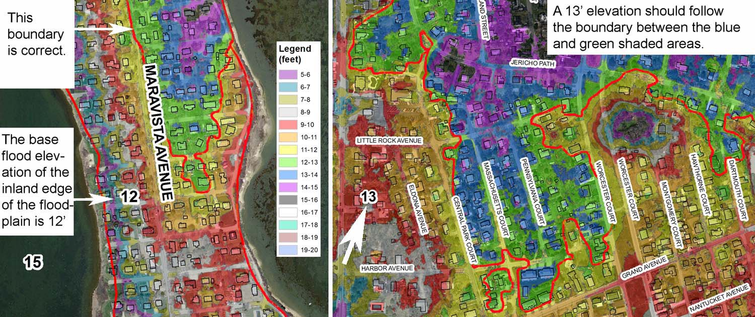 Map Tool To Assist In Review Of FIRMS For Falmouth And Bourne MA - Floodplain elevation maps