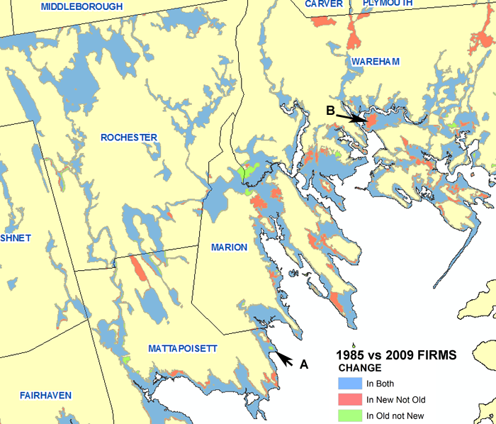 Old Vs New Firms In Buzzards Bay - Fema firm maps