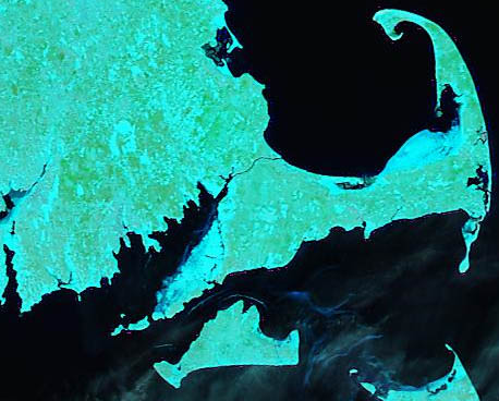 Sea Ice in Buzzards Bay, 28 February 2015 MODIS