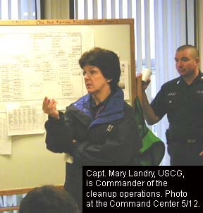 Federal On Scene Coordinator (FOSC): Captain Mary Landry, USCG