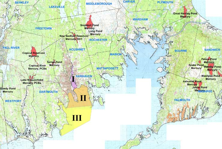 map of seafood health advisories