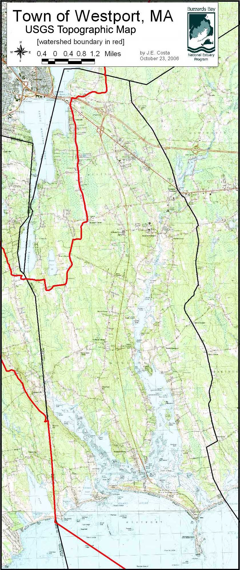 Topographic Map of the Town of Westport