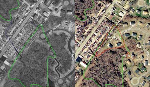 Wetland Loss Associated with Residential Development in Dartmouth.